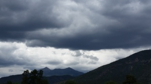 Stormy clouds over a Flagstaff sky. Could this mean something ominous is coming in Flight of the Thunderbird?